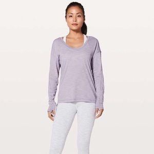 Lululemon Meant To Move Long Sleeve Tee Purple